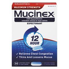 Maximum Strength Expectorant, 14 Tablets/box