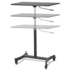 HIGH RISE MOBILE ADJUSTABLE SIT-STAND WORKSTATION, 30.75W X 22D X 44H, BLACK