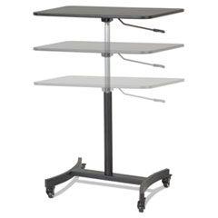 HIGH RISE MOBILE ADJUSTABLE SIT-STAND WORKSTATION, 30.75W X 22D X 44H, BLACK