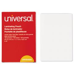 """LAMINATING POUCHES, 5 MIL, 6.5"""" X 4.38"""", CRYSTAL CLEAR, 100/BOX"""