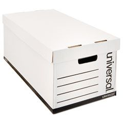 MEDIUM-DUTY EASY ASSEMBLY STORAGE BOX, LETTER FILES, WHITE, 12/CARTON