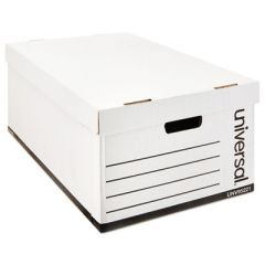 MEDIUM-DUTY EASY ASSEMBLY STORAGE BOX, LEGAL FILES, WHITE, 12/CARTON