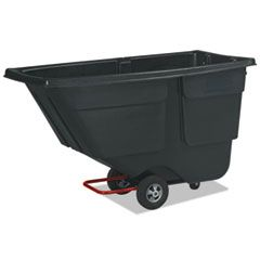 ROTOMOLDED TILT TRUCK, RECTANGULAR, PLASTIC, 600 LB CAPACITY, BLACK