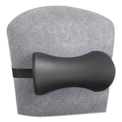 LUMBAR SUPPORT MEMORY FOAM BACKREST, 14.5W X 3.75D X 6.75H, BLACK