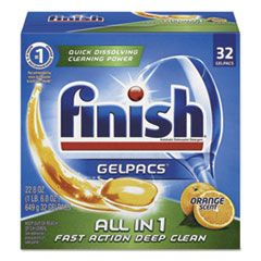 DISH DETERGENT GELPACS, ORANGE SCENT, 32/BOX
