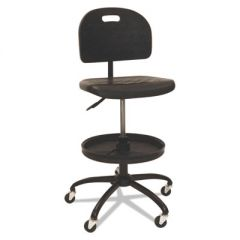 "WORKBENCH SHOP CHAIR, 28.5"" SEAT HEIGHT, SUPPORTS UP TO 300 LBS., BLACK SEAT/BLACK BACK, BLACK BASE"