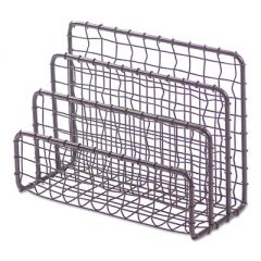 "VINTAGE WIRE MESH FILE AND LETTER SORTER, 3 SECTIONS, DL TO LEGAL SIZE FILES, 6.63"" X 2.88"" X 5.13"", VINTAGE BRONZE"