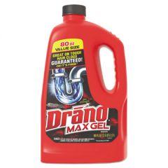 Max Gel Clog Remover, Bleach Scent, 80 Oz Bottle, 6/carton