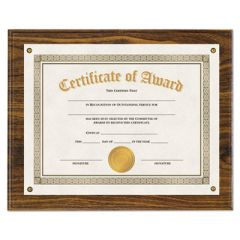 "Award Plaque, 13 1/3"" X 11"", Walnut"