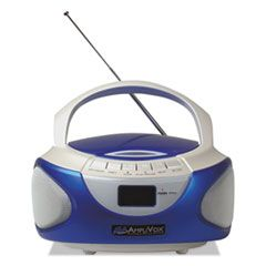 Cd Boombox With Bluetooth, Blue
