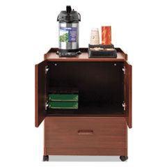 MOBILE DELUXE COFFEE BAR, 23W X 19D X 30.75H, CHERRY