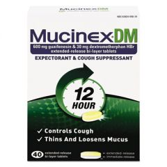 Dm Expectorant And Cough Suppressant, 40 Tablets/box