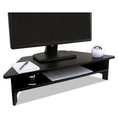 High Rise Collection Monitor Stand, 27 X 11 1/2 X 6 1/2-7 1/2, Black