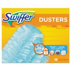 "REFILL DUSTERS, DUST LOCK FIBER, 2"" X 6"", LIGHT BLUE, 18/BOX, 4 BOXES/CARTON"