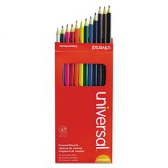 WOODCASE COLORED PENCILS, 3 MM, ASSORTED LEAD/BARREL COLORS, 24/PACK