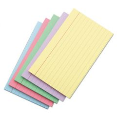 Index Cards, 5 X 8, Blue/salmon/green/cherry/canary, 100/pack