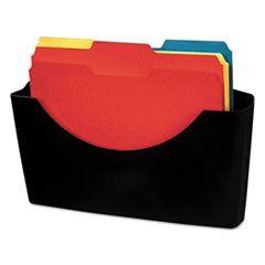 Plastic Partition Additions File Pocket, Letter, Dark Graphite
