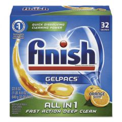 Dish Detergent Gelpacs, Orange Scent, Box Of 32 Gelpacs, 8 Boxes/carton