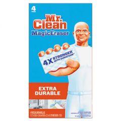 """Magic Eraser Extra Durable, 4 3/5"""" X 2 2/5"""", 4/box, 8 Boxes/carton"""