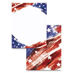 PRE-PRINTED PAPER, 28 LB, 8.5 X 11, STARS AND STRIPES, 100/PACK