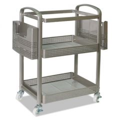 MOBILE FILE CART, 22.2W X 12.3D X 25.2H, SILVER