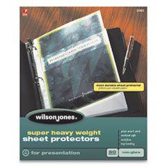 Top-Loading Super Heavy Sheet Protectors, Nonglare Finish, Letter, 50/box