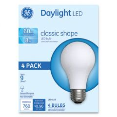 CLASSIC LED DAYLIGHT NON-DIM A19 LIGHT BULB, 8 W, 4/PACK
