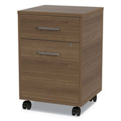 URBAN MOBILE FILE PEDESTAL, 16W X 15.25D X 23.75H, NATURAL WALNUT