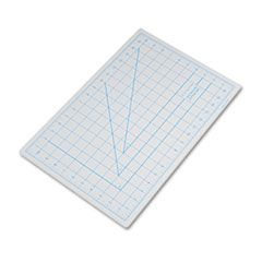 "Self-Healing Cutting Mat, Nonslip Bottom, 1"" Grid, 12 X 18, Gray"