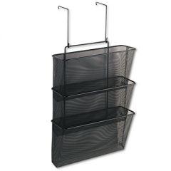 Mesh Partition Additions Three-File Pocket Organizer, 12 5/8 X 16 3/4, Black
