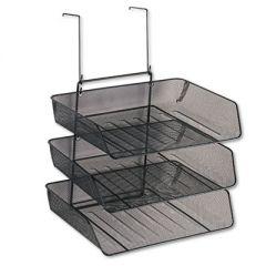 Mesh Partition Additions Three-Tray Organizer, 11 1/8 X 14 X 14 3/4, Black
