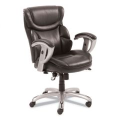EMERSON TASK CHAIR, SUPPORTS UP TO 300 LBS., BROWN SEAT/BROWN BACK, SILVER BASE
