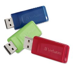 STORE 'N' GO USB FLASH DRIVE, 16 GB, ASSORTED COLORS, 3/PACK