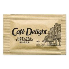 RAW TURBINADO SUGAR PACKETS, 2.8 G PACKET, 2000 PACKETS/BOX