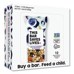 SNACKBARS, WILD BLUEBERRY AND PISTACHIO, 1.4 OZ, 12/BOX