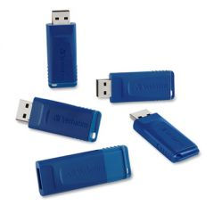 CLASSIC USB 2.0 FLASH DRIVE, 16 GB, BLUE, 5/PACK