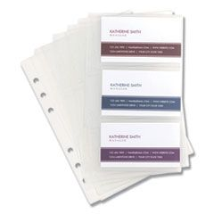 Refill Sheets For 4 1/4 X 7 1/4 Business Card Binders, 60 Card Capacity, 10/pack