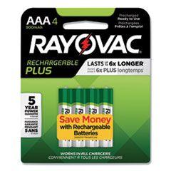 Recharge Plus Nimh Batteries, Aaa, 4/pack