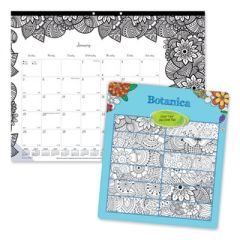 DOODLEPLAN DESK PAD CALENDAR WITH COLORING PAGES, 22 X 17, 2021