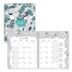 DOODLEPLAN MONTHLY PLANNER, 8 7/8 X 7 1/8, COLORING PAGES, 2020