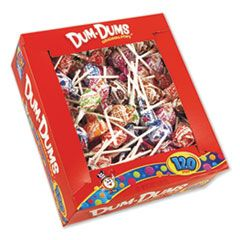 DUM-DUM-POPS, ASSORTED FLAVORS, INDIVIDUALLY WRAPPED, 120/BOX