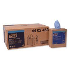 INDUSTRIAL PAPER WIPER, 4-PLY, 8.54 X 16.5, BLUE, 90 TOWELS/BOX, 10 BOX/CARTON