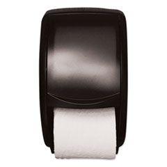 TWIN STANDARD ROLL BATH TISSUE DISPENSER, PLASTIC, 7.5 X 7 X 12.75, SMOKE