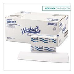 SINGLEFOLD TOWELS, 1 PLY, 9.5 X 9, WHITE, 250/PACK, 16 PACKS/CARTON