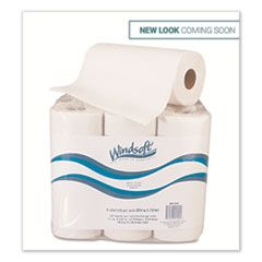Kitchen Roll Towels, 2 Ply, 11 x 9, White, 72 Sheets/Roll, 6 Rolls/Pack