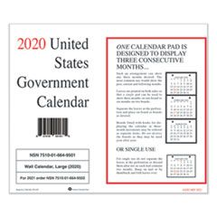 7510016649502 Monthly Wall Calendar, 9 x 11, 2021, 10/Pack