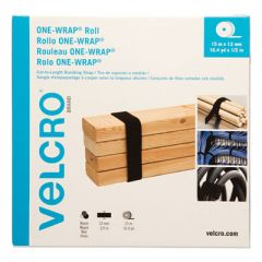 """ONE-WRAP CUT-TO-FIT THIN-TIES, 0.5"""" X 49 FT, BLACK"""