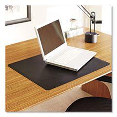Natural Origins Desk Pad, 38 X 24, Matte, Black