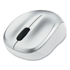 SILENT WIRELESS BLUE LED MOUSE, 2.4 GHZ FREQUENCY/32.8 FT WIRELESS RANGE, LEFT/RIGHT HAND USE, SILVER