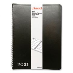 MONTHLY PLANNER, 11 X 8, BLACK, 2021